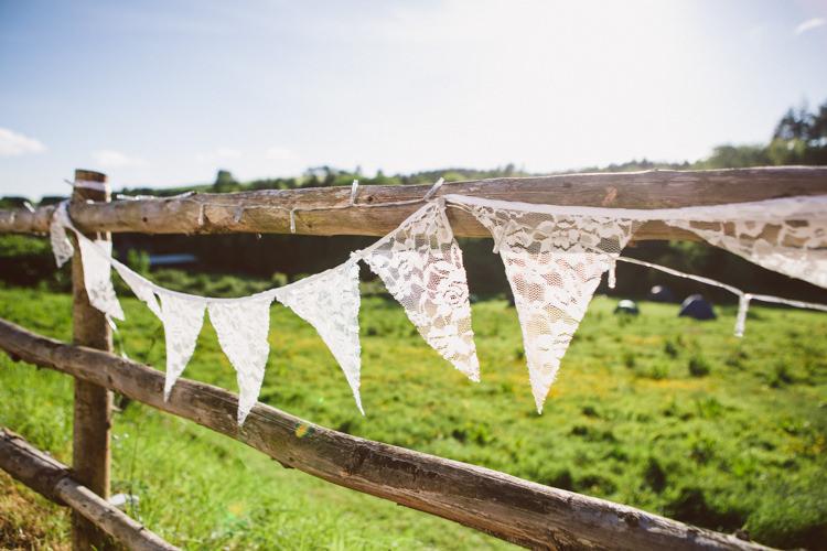 Lace Bunting Woodland Farm Camp Wedding http://emmastonerweddings.com/