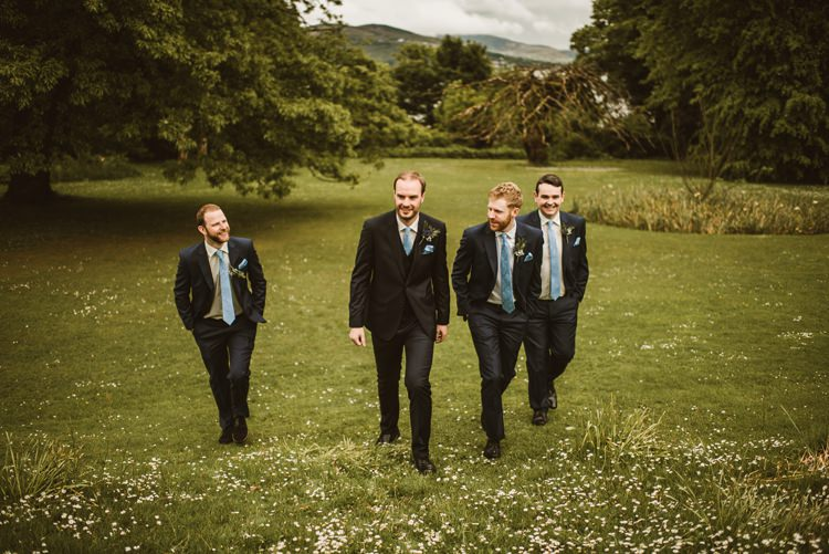 Navy Suit Groom Groomsmen Homely Ethereal Intimate Country House Wedding https://www.photosligo.com/