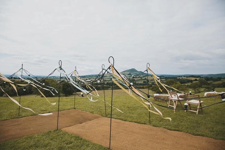 Shepherd Hooks Ribbons Festoon Lights DIY Pretty Pastel Tipi Wales Wedding http://www.mckinley-rodgers.co.uk/