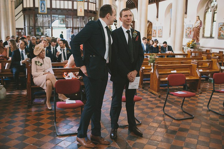 M&S Black Suit Groom Tie DIY Pretty Pastel Tipi Wales Wedding http://www.mckinley-rodgers.co.uk/