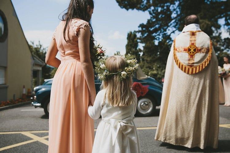 Flower Girl DIY Pretty Pastel Tipi Wales Wedding http://www.mckinley-rodgers.co.uk/