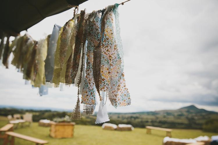 Rag Bunting DIY Pretty Pastel Tipi Wales Wedding http://www.mckinley-rodgers.co.uk/