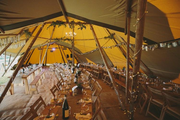 Fairy Lights Decor DIY Pretty Pastel Tipi Wales Wedding http://www.mckinley-rodgers.co.uk/