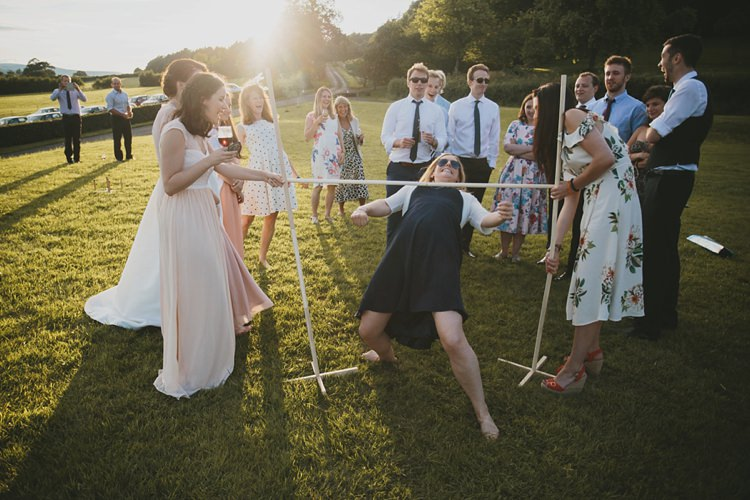 Limbo Game DIY Pretty Pastel Tipi Wales Wedding http://www.mckinley-rodgers.co.uk/