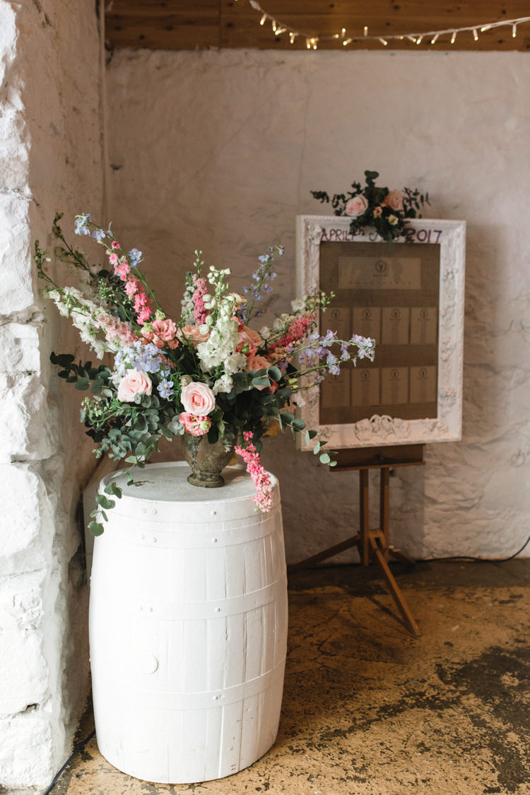 Flowers Pink Yellow Blue Peony Ranunculus Rose The Prettiest Spring Barn Pastels Wedding https://www.thegibsonsphotography.co.uk/