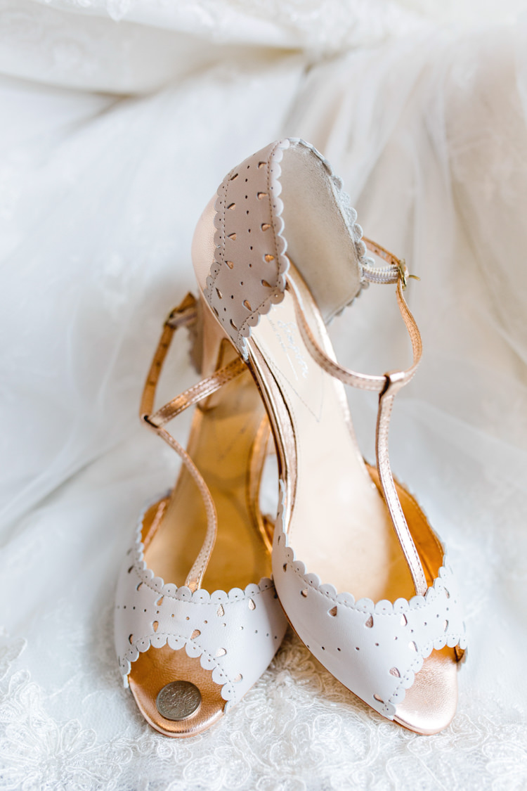 T Bar Peep Toe Shoes Bride Bridal The Prettiest Spring Barn Pastels Wedding https://www.thegibsonsphotography.co.uk/