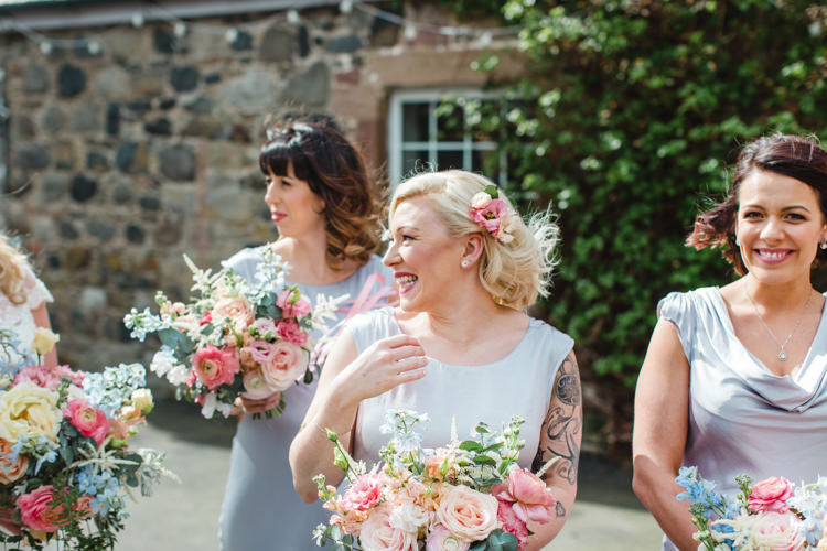 Grey Silver Ghost Silk Bridesmaid Dresses The Prettiest Spring Barn Pastels Wedding https://www.thegibsonsphotography.co.uk/