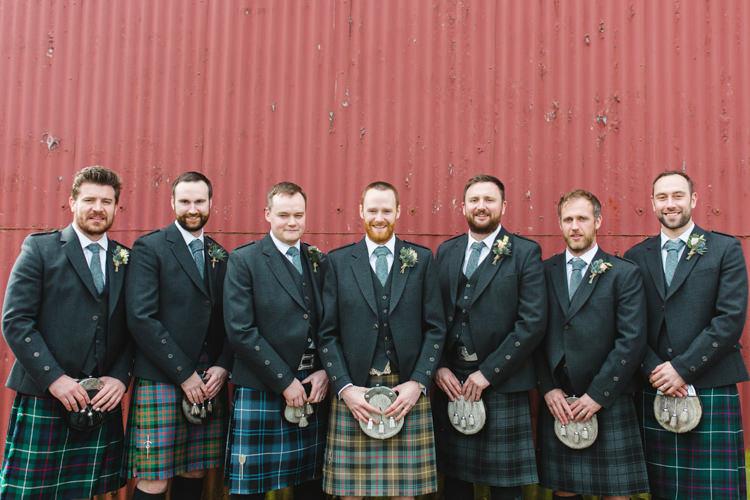 Kilts Groom Groomsmen Tartan The Prettiest Spring Barn Pastels Wedding https://www.thegibsonsphotography.co.uk/