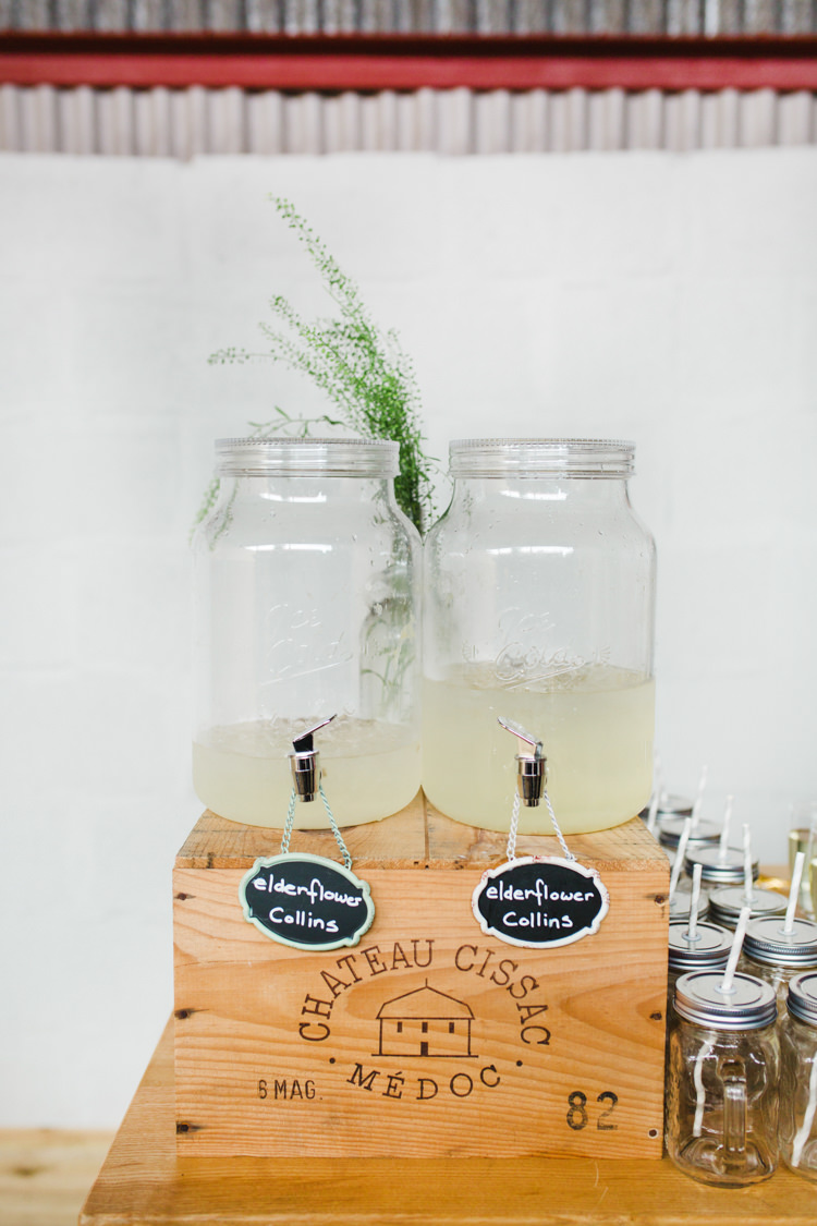 Drink Dispensers Bar Station The Prettiest Spring Barn Pastels Wedding https://www.thegibsonsphotography.co.uk/