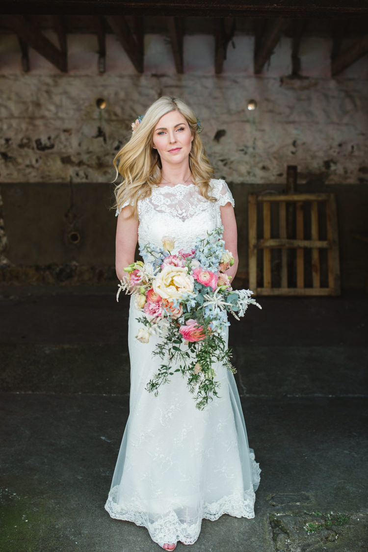 Lana Lusan Mandongus Dress Gown Bride Bridal Lace The Prettiest Spring Barn Pastels Wedding https://www.thegibsonsphotography.co.uk/