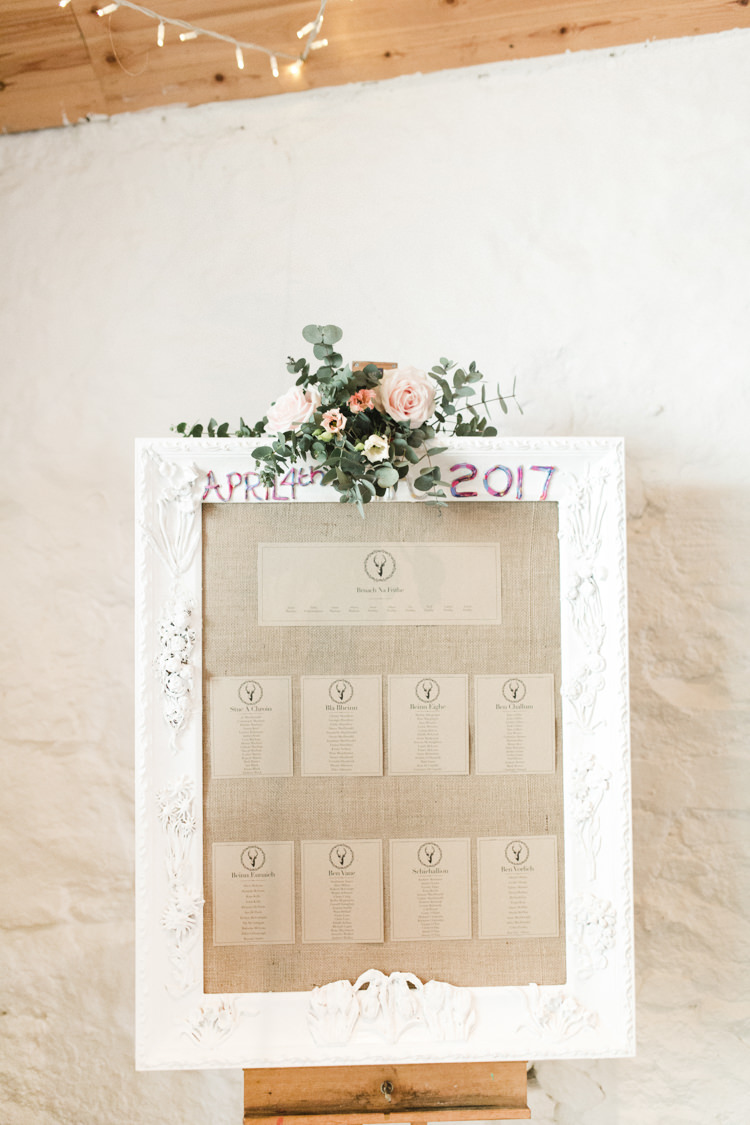 Hessian Frame Flowers Seating Plan Table Chart The Prettiest Spring Barn Pastels Wedding https://www.thegibsonsphotography.co.uk/