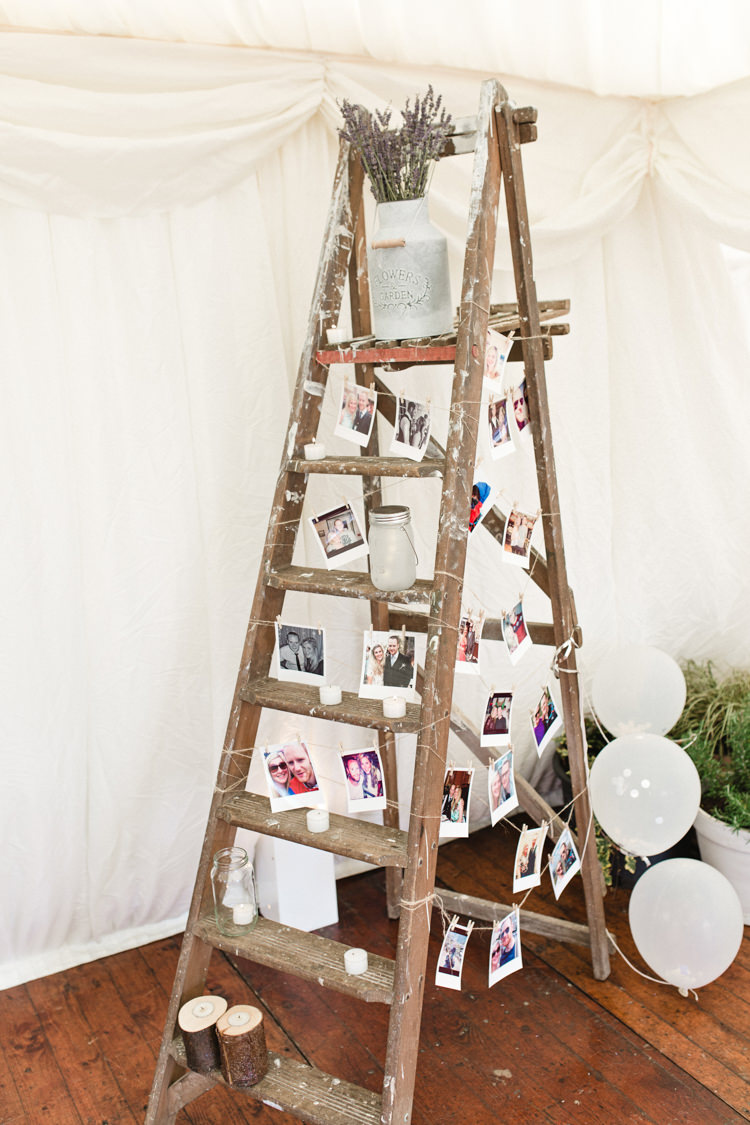 Wooden Ladder Decor Photos The Prettiest Spring Barn Pastels Wedding https://www.thegibsonsphotography.co.uk/