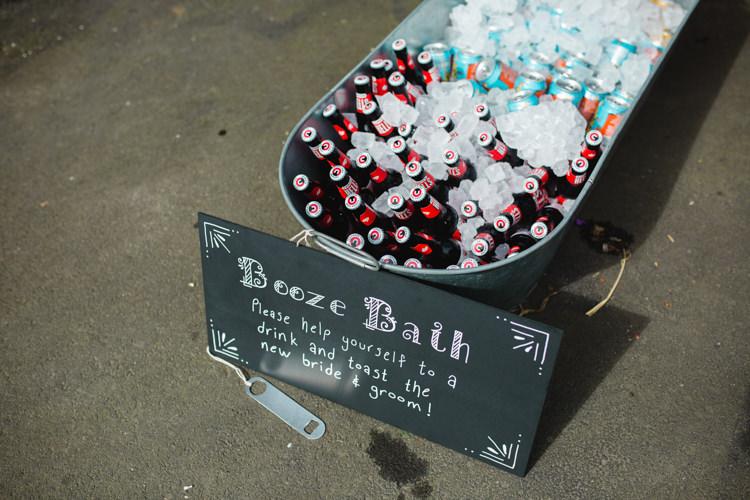 Booze Bath Drinks Bar Station The Prettiest Spring Barn Pastels Wedding https://www.thegibsonsphotography.co.uk/