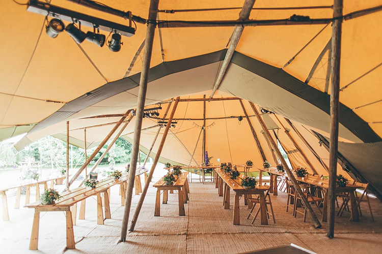 Tipi Decor Interior Beautiful Floral Bohemian Garden Wedding http://rachellambertphotography.co.uk/