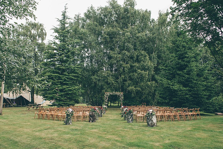 Outdoor Ceremony UK Wales Beautiful Floral Bohemian Garden Wedding http://rachellambertphotography.co.uk/