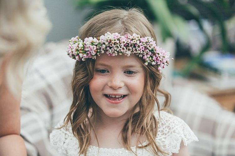 Wac Flower Crown Girl Bridesmaid Beautiful Floral Bohemian Garden Wedding http://rachellambertphotography.co.uk/