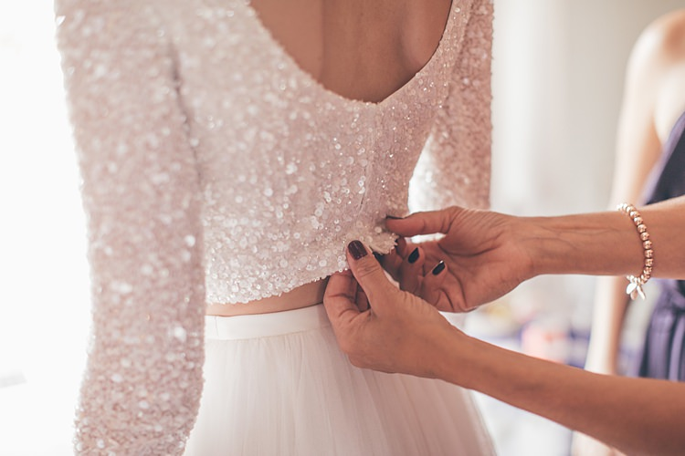 Sequin Long Sleeve Crop Top Bride Bridal Beautiful Floral Bohemian Garden Wedding http://rachellambertphotography.co.uk/