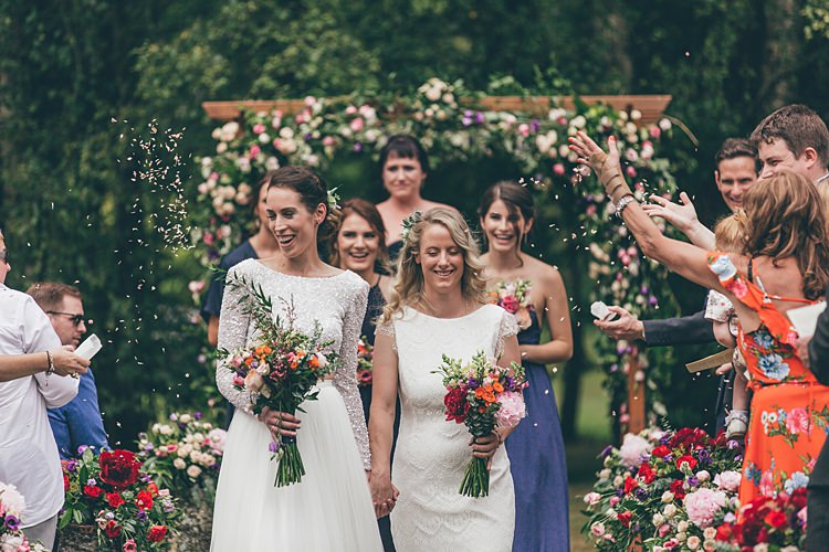 Confetti Throw Beautiful Floral Bohemian Garden Wedding http://rachellambertphotography.co.uk/