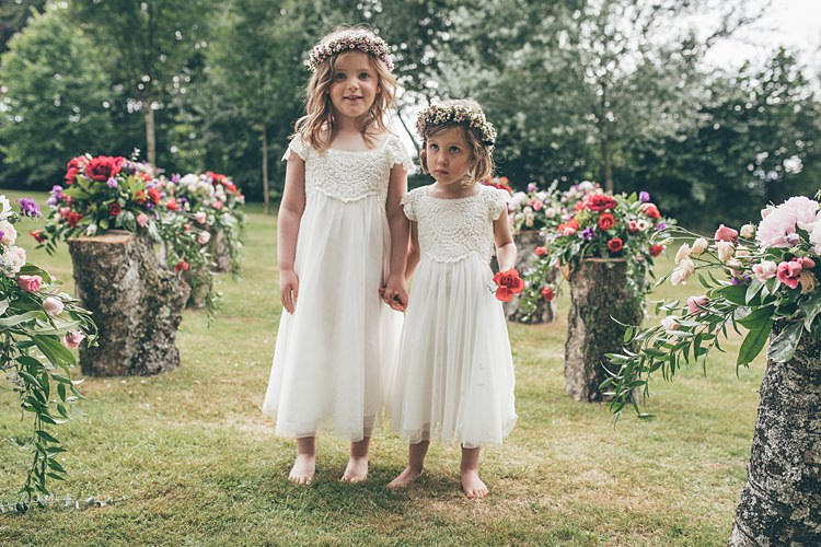 Flower Girls Crochet Dresses Beautiful Floral Bohemian Garden Wedding http://rachellambertphotography.co.uk/
