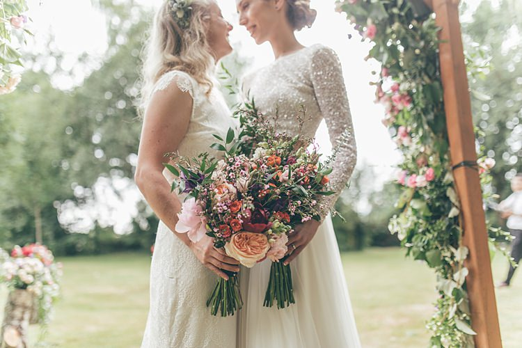 Bouquets Flowers Bride Bridal Peony Rose Wax Beautiful Floral Bohemian Garden Wedding http://rachellambertphotography.co.uk/