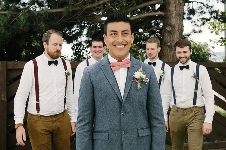 Groom Ted Baker Zara Wool Jacket Pink Bow Tie Chinos Braces Groomsmen Crafty Pretty Pastel Budget Wedding http://lilysawyer.com/