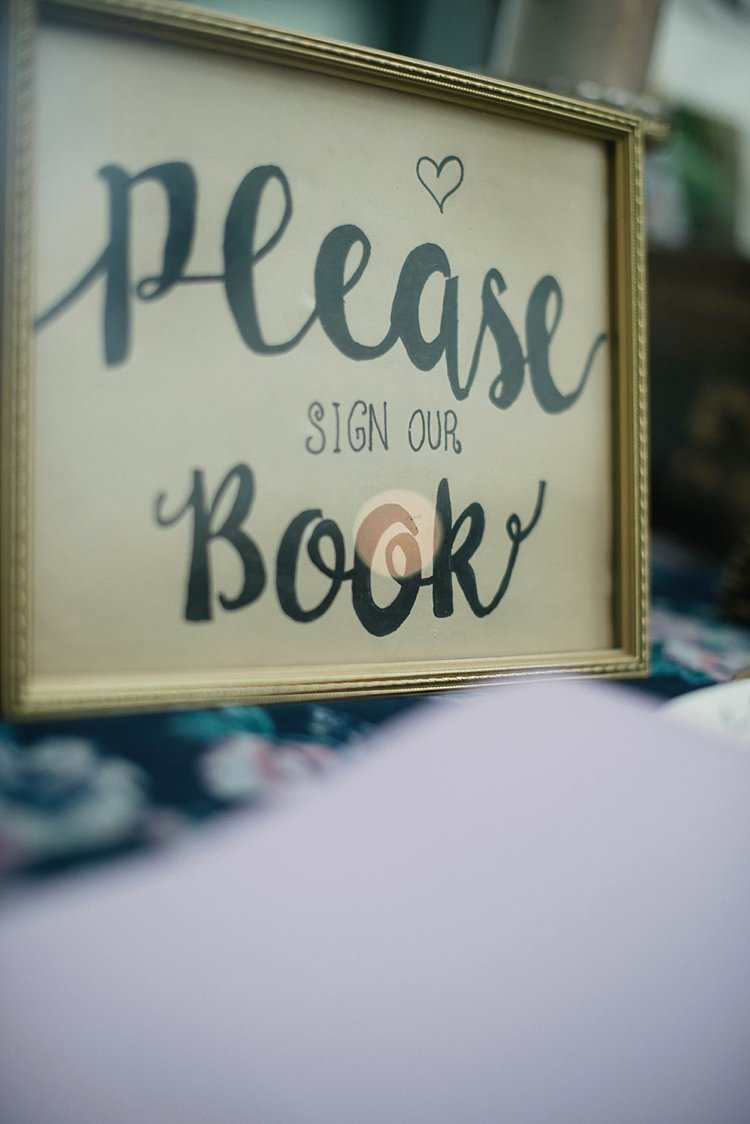 Guest Book Sign Gold Frame Gift Table Cards Crafty Pretty Pastel Budget Wedding http://lilysawyer.com/