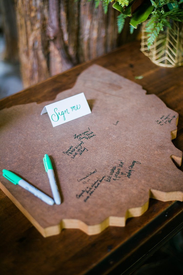 Guestbook Wooden Jigsaw Whimsical Woods Wedding Barn Ohio http://www.connectionphotoblog.com/