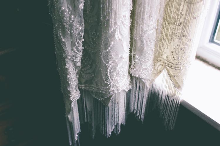 Beaded Flapper Vintage Dress Magical Industrial City Vintage Wedding http://www.emmaboileau.co.uk/