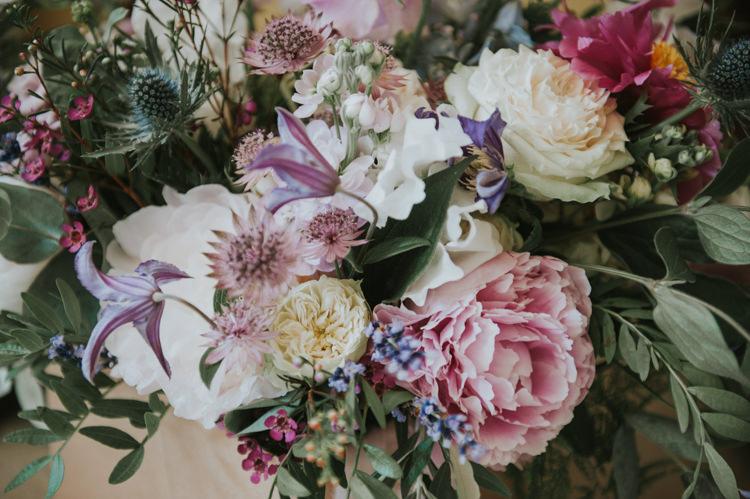 Peonies Roses Thistles Herbs Flowers Home Made Walled Garden Wedding https://www.rosiekelly.co.uk/