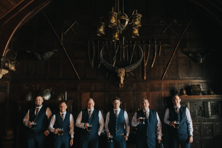 Groom Groomsmen Waistcoats Suits Style Herbs Flowers Home Made Walled Garden Wedding https://www.rosiekelly.co.uk/