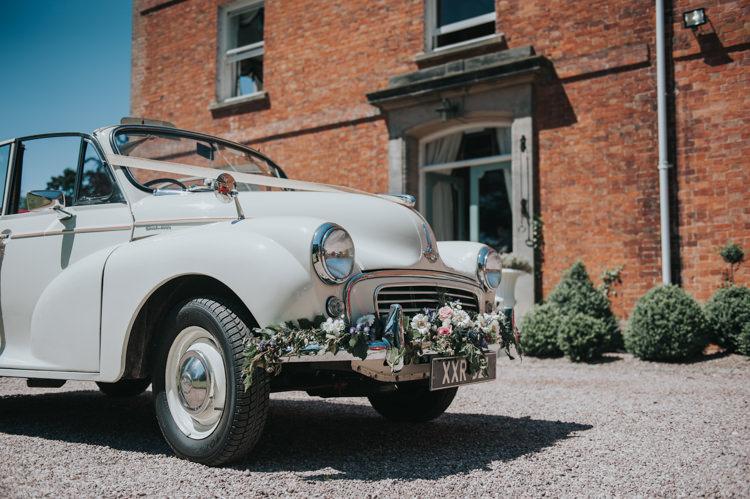 Morris Minor Car Transport Herbs Flowers Home Made Walled Garden Wedding https://www.rosiekelly.co.uk/