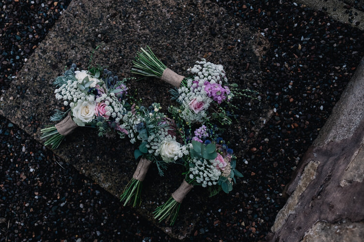 Bouquets Flowers Twinkling Rustic DIY Barn Wedding https://www.harperscottphoto.com/
