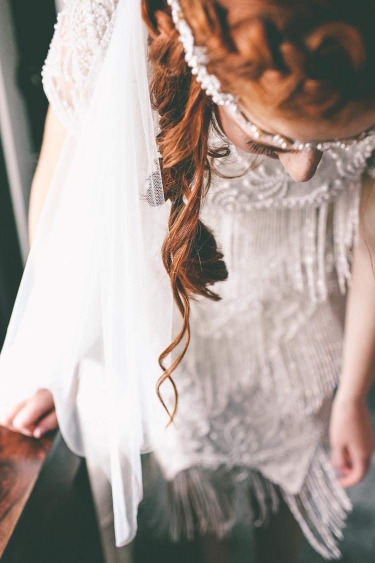 Beaded Flapper Vintage Dress 1940s Bride Bridal Magical Industrial City Vintage Wedding http://www.emmaboileau.co.uk/