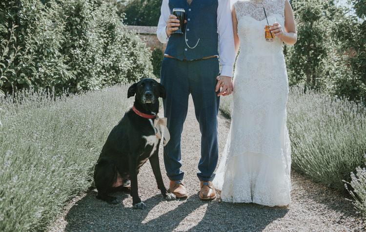 Pet Dog Herbs Flowers Home Made Walled Garden Wedding https://www.rosiekelly.co.uk/