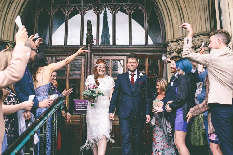 Confetti Throw Magical Industrial City Vintage Wedding http://www.emmaboileau.co.uk/