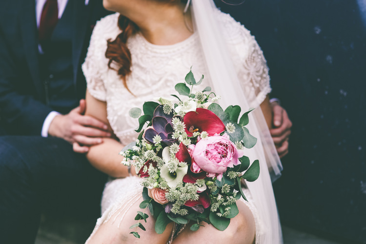 Peony Lily Succulent Bouquet Flowers Bride Bridal Magical Industrial City Vintage Wedding http://www.emmaboileau.co.uk/