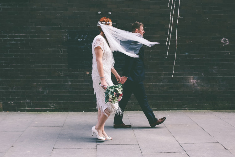 Flapper 1940s Dress Bride Bridal Magical Industrial City Vintage Wedding http://www.emmaboileau.co.uk/