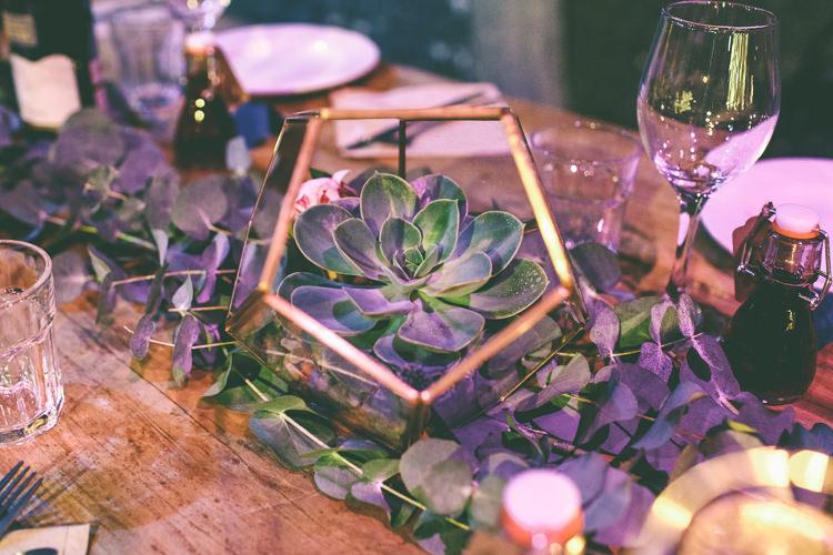 Succulent Terrarium Decor Magical Industrial City Vintage Wedding http://www.emmaboileau.co.uk/