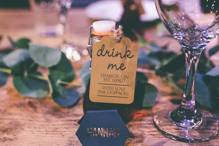 Gin Favours Magical Industrial City Vintage Wedding http://www.emmaboileau.co.uk/