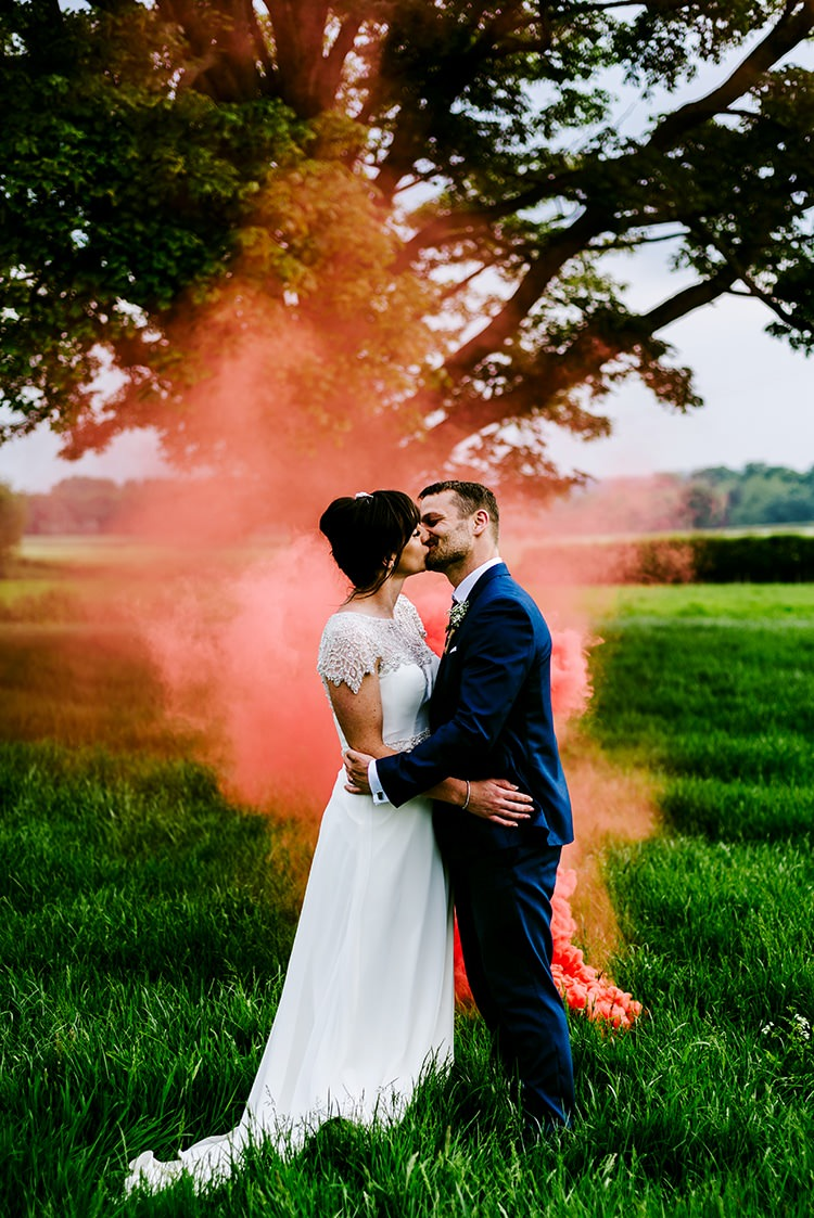 Smoke Bomb Wedding Portraits Images Photographs http://www.dmcclane.com/