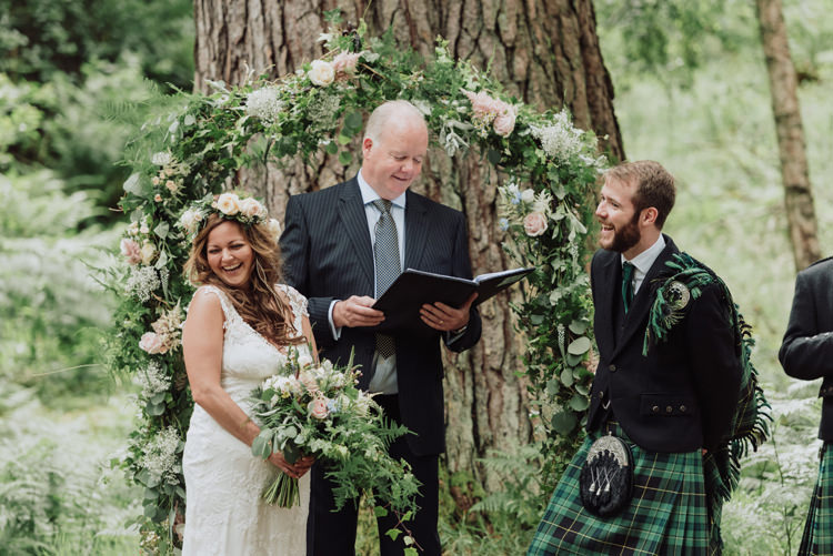 Flower Arch Greenery Foliage Ceremony Backdrop Enchanting Ancient Forest Wedding http://donnamurrayphotography.com/