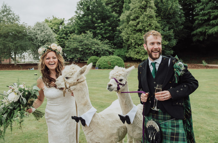 Alpaca Bride Groom Enchanting Ancient Forest Wedding http://donnamurrayphotography.com/