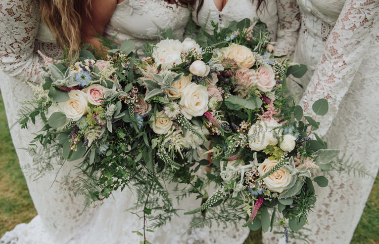 Bouquets Flowers Greenery Foliage Rose Peony Bride Bridal Bridesmaids Enchanting Ancient Forest Wedding http://donnamurrayphotography.com/