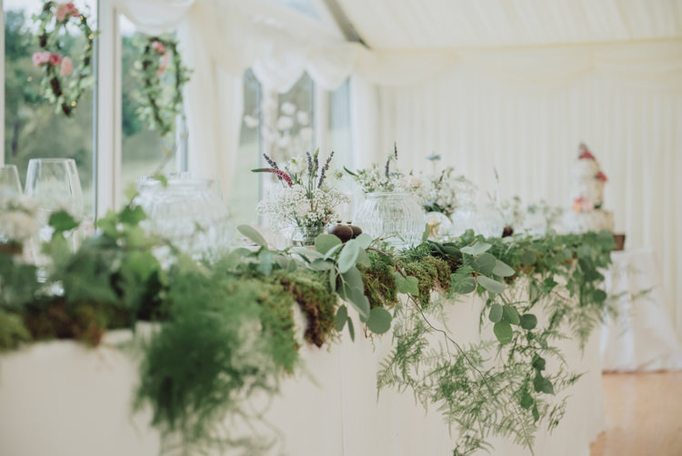 Top Table Greenery Foliage Moss Fern Decor Tablescape Enchanting Ancient Forest Wedding http://donnamurrayphotography.com/