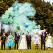 Why We Love Smoke Bomb Wedding Photographs