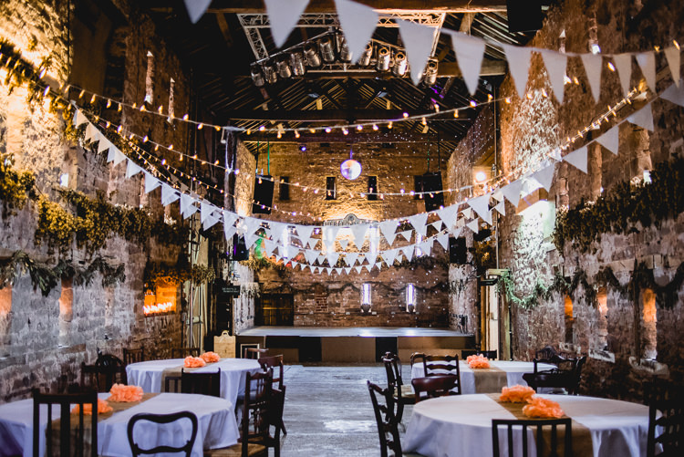 Fairy Lights Bunting Eclectic Outdoor Barn Wedding https://www.barneywalters.com/