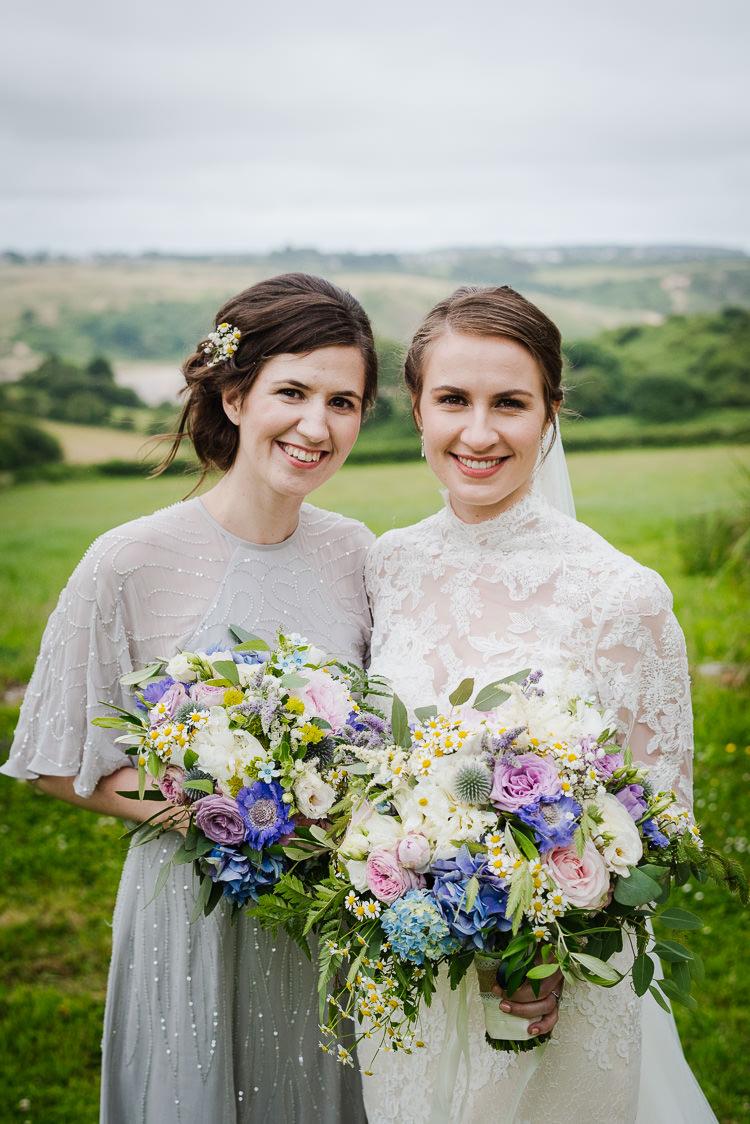 Beaded Sequin Grey Bridesmaid Dresses Sleeves Bouquets Flowers Pastel Boho Funfair Floral Country Wedding https://www.jonnybarratt.com/