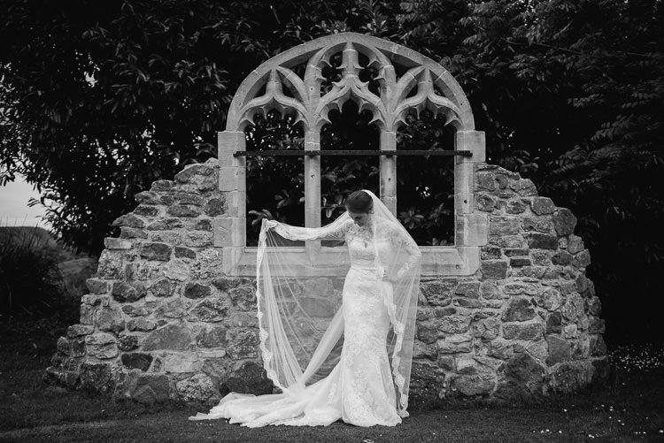 Lace Dress Gown Bride Bridal Pronovias Veil Boho Funfair Floral Country Wedding https://www.jonnybarratt.com/