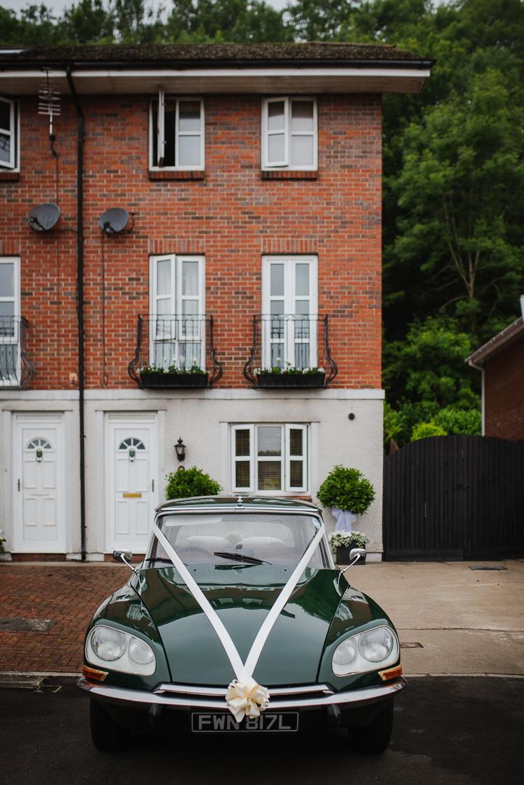 Green Classic Car Transport Boho Funfair Floral Country Wedding https://www.jonnybarratt.com/