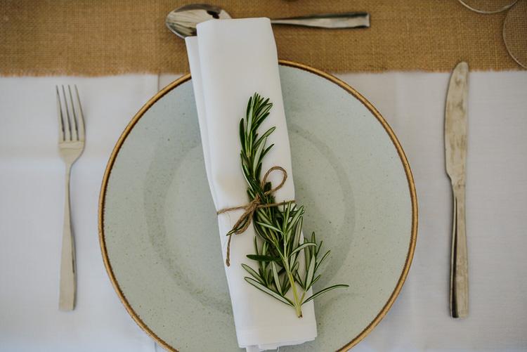 Rosemary Twine Place Setting Decor Boho Funfair Floral Country Wedding https://www.jonnybarratt.com/